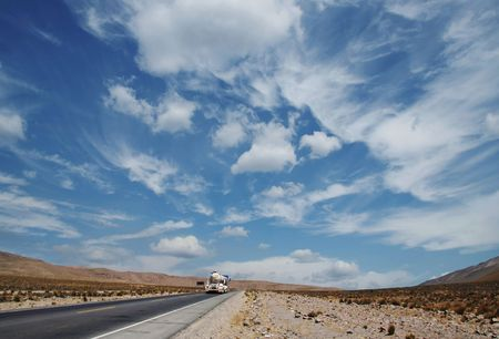 Road along Andes desert Stock Photo - 685107