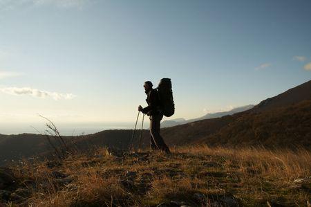Trekking in the Crimea Stock Photo - 713510