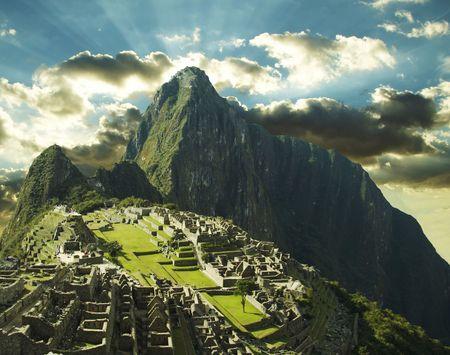 the lost city of the incas: the city Machu-Picchu,Peru Stock Photo