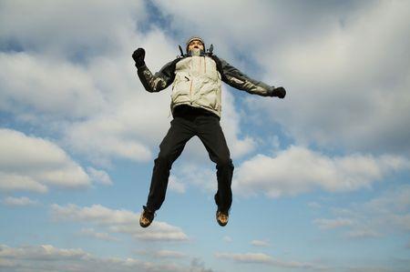 Jumping men Stock Photo - 784865