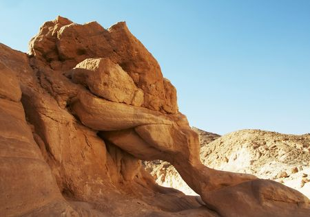 Orange rock figure in Colorful canyon,Egypt Stock Photo - 784837
