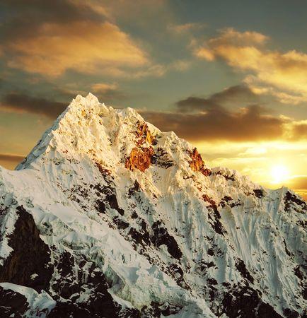 Alpamayo peak in Cordilleras mountain Stock Photo - 793885