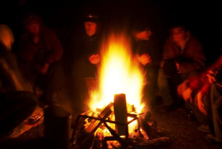 broil: People around campfire