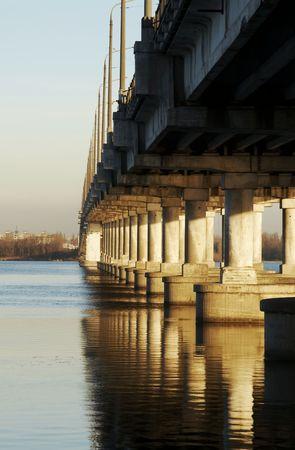 dnepr: Bridge on the Dnepr river in Dnepropetrovsk