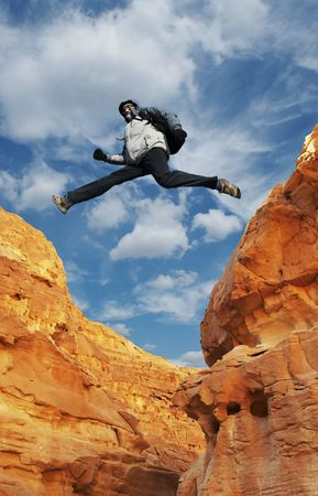 Jumping man Stock Photo - 800612