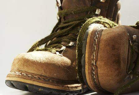 Brown old boots photo