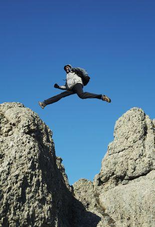 Jumping man Stock Photo - 813895
