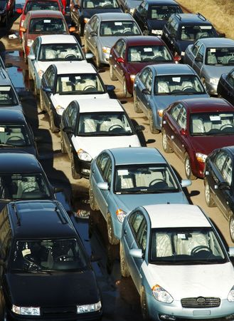 path to wealth: Many cars in transportation platform