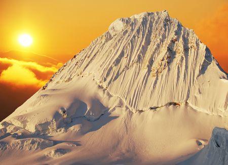 Alpamayo peak in Cordilleras mountain Stock Photo - 836055