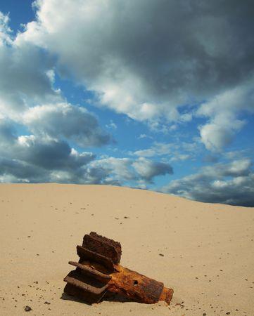 Old bomb on the desert Stock Photo - 836056