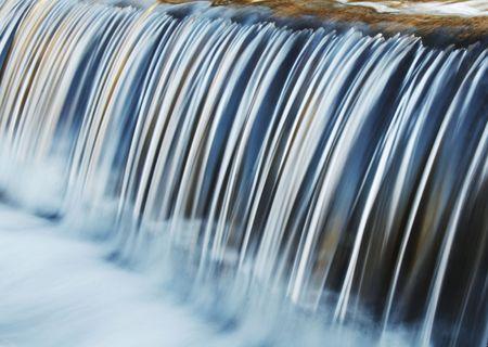 Symmetry water cascade in park Stock Photo
