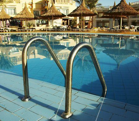 Rail in the swimming -pool