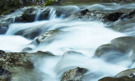 Water movement in the waterfall on stone background Stock Photo - 867051