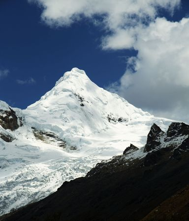 Snow peak in the Cordillera Blanca photo