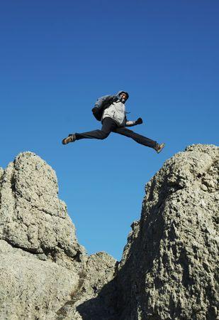Jumping man Stock Photo - 880749