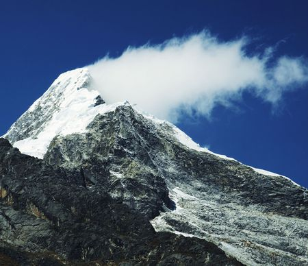 glasier: Mountain peak and cloud