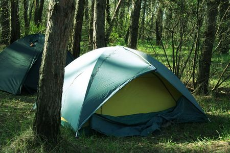 Tent in forest Stock Photo - 886731