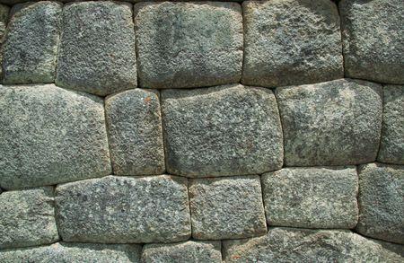 stoneworks: Inca wall in the city Macchu-Picchu,Peru