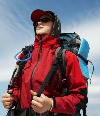 Portrait of climber