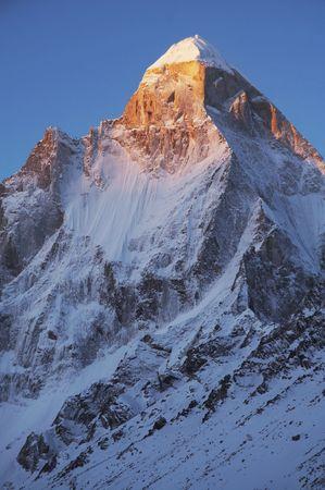 Shivling peak on sunset  photo