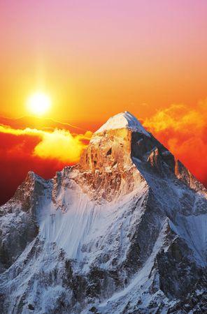 Shivling peak on sunset Stock Photo - 936854