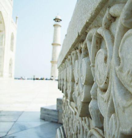 Marbles details in Taj Mahal palace Stock Photo - 951239