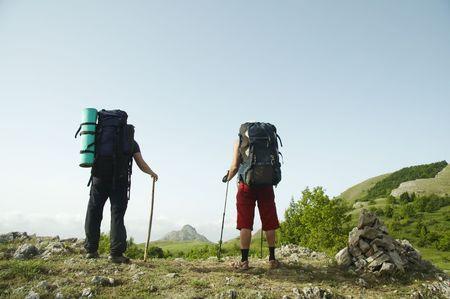 Personas panorama montañas paisajes  Foto de archivo - 962999