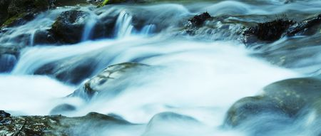 Water movement in the waterfall on stone background Stock Photo - 963013