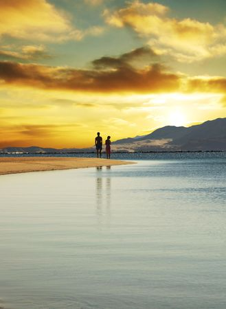 Couple on sunset Stock Photo - 1010734