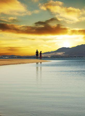Couple on sunset Stock Photo - 1010734