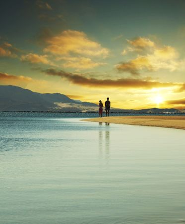 Couple on sunset Stock Photo - 1063952