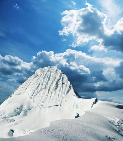 alpamayo: Alpamayo peak in Cordilleras mountain,Peru