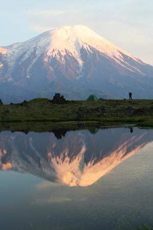 Mountain lake on Kamchatka photo