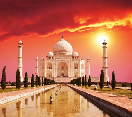 Taj Mahal palace in India on sunrise Stock Photo - 1471282