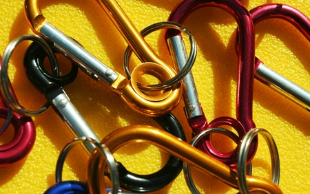 Colorful carabiners
