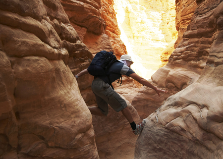 Climbing in the canyon Stock Photo - 1505489
