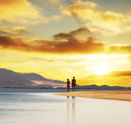 Couple on sunset Stock Photo - 1612898