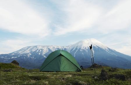kamchatka: tenda in montagna sulla Kamchatka