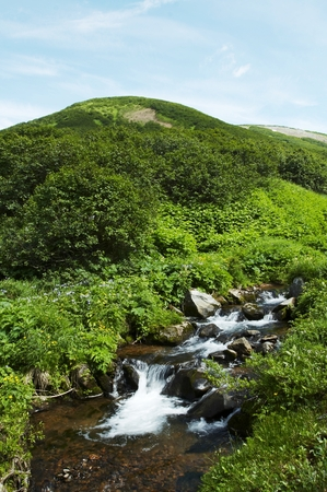 Clean mountain river photo