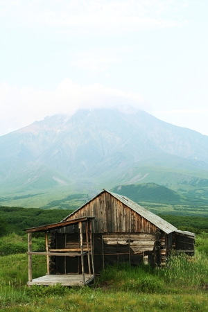 kamchatka: Montagne a capanna Kamchatka  Archivio Fotografico