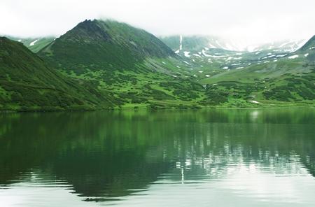 kamchatka: Lago di montagna in Kamchatka