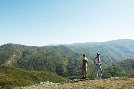 Hiking scene Stock Photo - 1816043