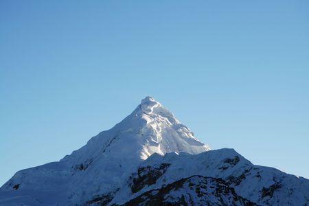 cordillera: Snowcovered high mountain Cordilleras