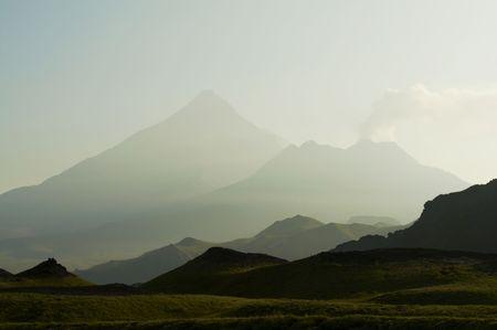kamchatka: Paesaggio di montagne su Kamchatka