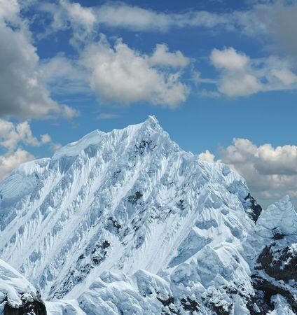 cordillera: Snowcovered high mountain in Cordilleras