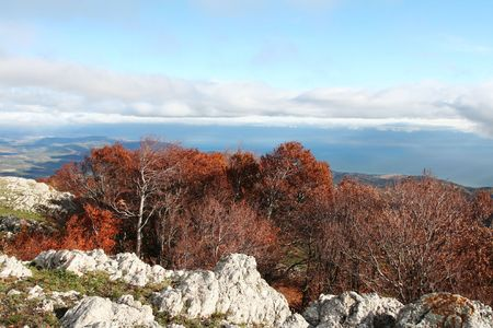 Crimean mountain in autumn season Stock Photo - 2039036