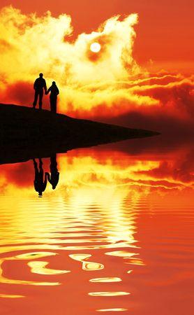 Couple on sunset Stock Photo - 2112047