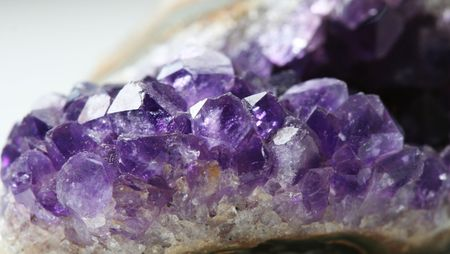 brilliancy: Mountain crystal amethyst Stock Photo