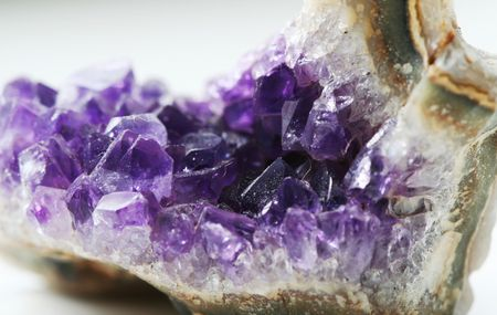 lucid: Mountain crystal amethyst Stock Photo