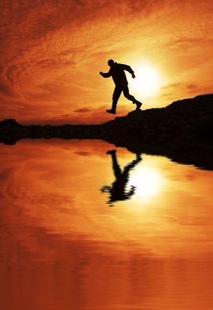 Running man photo